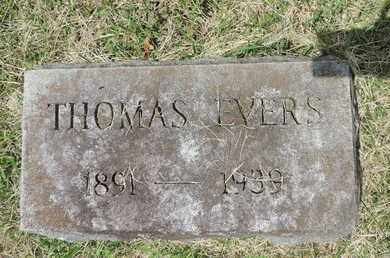 EVERS, THOMAS - Franklin County, Ohio | THOMAS EVERS - Ohio Gravestone Photos