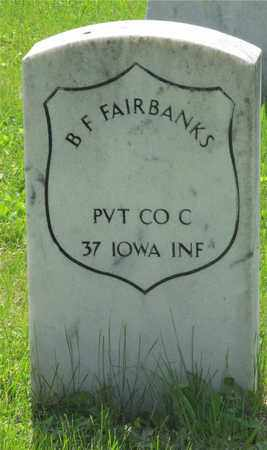 FAIRBANKS, B. F. - Franklin County, Ohio | B. F. FAIRBANKS - Ohio Gravestone Photos