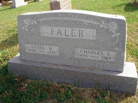FALER, CHARLES E. - Franklin County, Ohio | CHARLES E. FALER - Ohio Gravestone Photos