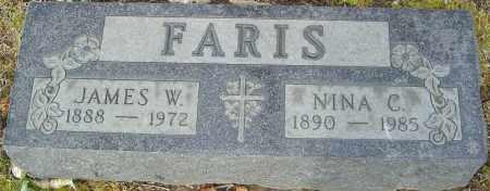 FARIS, JAMES W - Franklin County, Ohio | JAMES W FARIS - Ohio Gravestone Photos