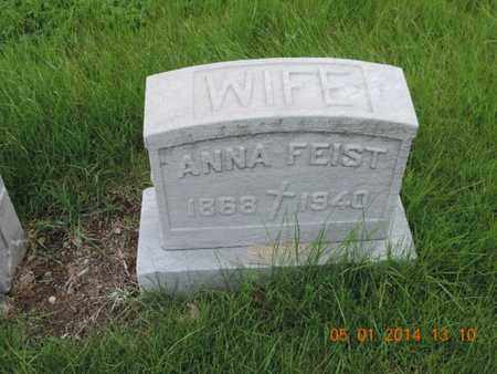 FEIST, ANNA - Franklin County, Ohio | ANNA FEIST - Ohio Gravestone Photos