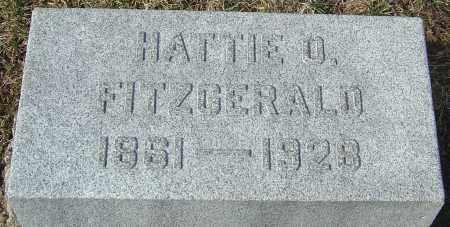 FITZGERALD, HATTIE O - Franklin County, Ohio | HATTIE O FITZGERALD - Ohio Gravestone Photos