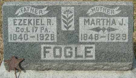 FOGLE, EZEKIEL R - Franklin County, Ohio | EZEKIEL R FOGLE - Ohio Gravestone Photos