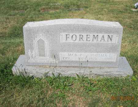FOREMAN, JACK PERSHING - Franklin County, Ohio | JACK PERSHING FOREMAN - Ohio Gravestone Photos