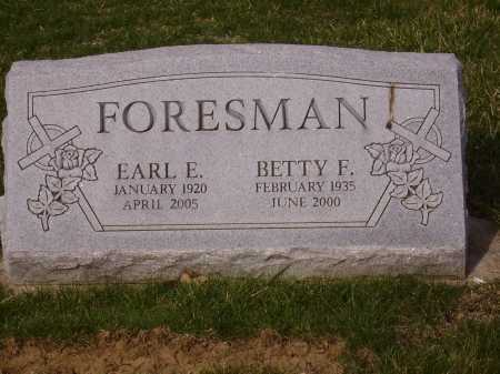 FORESMAN, EARL E. - Franklin County, Ohio | EARL E. FORESMAN - Ohio Gravestone Photos