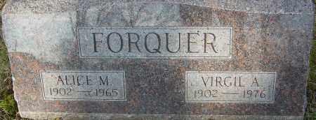FORQUER, ALICE M - Franklin County, Ohio | ALICE M FORQUER - Ohio Gravestone Photos