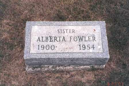 CODNER FOWLER, ALBERTA - Franklin County, Ohio   ALBERTA CODNER FOWLER - Ohio Gravestone Photos