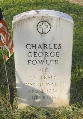 FOWLER, CHARLES GEORGE - Franklin County, Ohio | CHARLES GEORGE FOWLER - Ohio Gravestone Photos