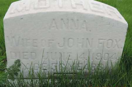 FOX, ANNA - Franklin County, Ohio | ANNA FOX - Ohio Gravestone Photos