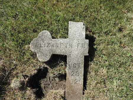 FR,,,, ELIZABETH - Franklin County, Ohio   ELIZABETH FR,,, - Ohio Gravestone Photos