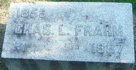 FRAHM, CHAS L - Franklin County, Ohio   CHAS L FRAHM - Ohio Gravestone Photos