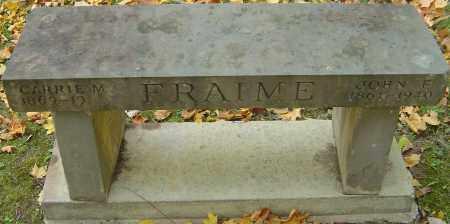 FRAIME, JOHN F - Franklin County, Ohio | JOHN F FRAIME - Ohio Gravestone Photos
