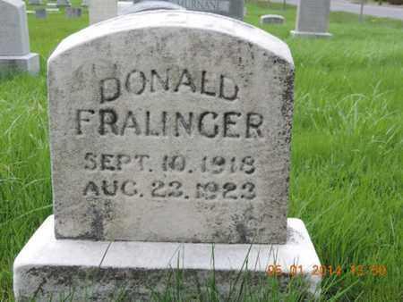 FRALINGER, DONALD - Franklin County, Ohio   DONALD FRALINGER - Ohio Gravestone Photos