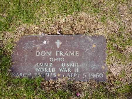 FRAME, DON - MILITARY - Franklin County, Ohio | DON - MILITARY FRAME - Ohio Gravestone Photos