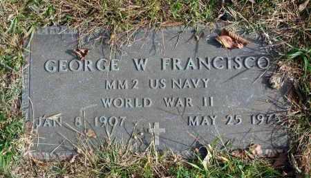 FRANCISCO, GEORGE W. - Franklin County, Ohio   GEORGE W. FRANCISCO - Ohio Gravestone Photos