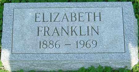 FRANKLIN, ELIZABETH - Franklin County, Ohio   ELIZABETH FRANKLIN - Ohio Gravestone Photos