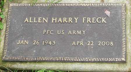 FRECK, ALLEN - Franklin County, Ohio | ALLEN FRECK - Ohio Gravestone Photos