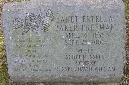 FREEMAN, JANET ESTELLA - Franklin County, Ohio | JANET ESTELLA FREEMAN - Ohio Gravestone Photos