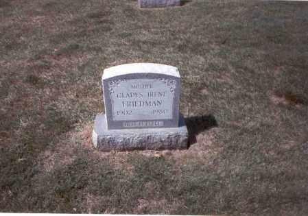 FRIEDMAN, GLADYS IRENE - Franklin County, Ohio | GLADYS IRENE FRIEDMAN - Ohio Gravestone Photos