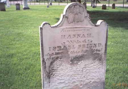 FRIEND, HANNAH - Franklin County, Ohio   HANNAH FRIEND - Ohio Gravestone Photos