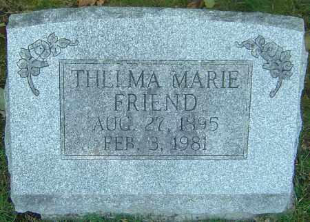 FRIEND, THELMA MARIE - Franklin County, Ohio | THELMA MARIE FRIEND - Ohio Gravestone Photos