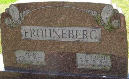 FROHNEBERG, JOHN - Franklin County, Ohio | JOHN FROHNEBERG - Ohio Gravestone Photos