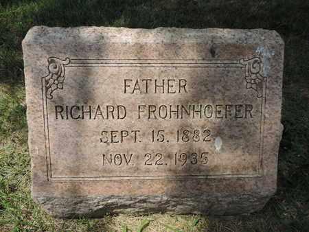 FROHNHOEFER, RICHARD - Franklin County, Ohio | RICHARD FROHNHOEFER - Ohio Gravestone Photos