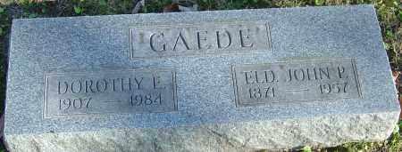 GAEDE, DOROTHY E - Franklin County, Ohio | DOROTHY E GAEDE - Ohio Gravestone Photos
