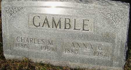 GAMBLE, ANNA - Franklin County, Ohio | ANNA GAMBLE - Ohio Gravestone Photos
