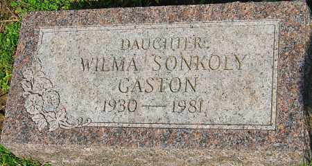 SONKOLY GASTON, WILMA - Franklin County, Ohio | WILMA SONKOLY GASTON - Ohio Gravestone Photos
