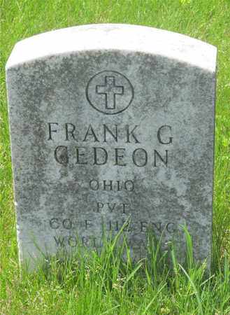 GEDEON, FRANK G. - Franklin County, Ohio | FRANK G. GEDEON - Ohio Gravestone Photos