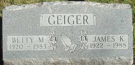 GEIGER, BETTY M - Franklin County, Ohio | BETTY M GEIGER - Ohio Gravestone Photos