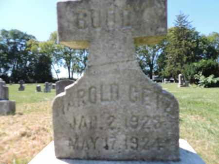 GETZ, HAROLD - Franklin County, Ohio   HAROLD GETZ - Ohio Gravestone Photos