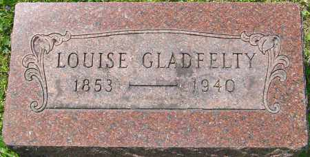 OLIVER GLADFELTY, LOUISE - Franklin County, Ohio | LOUISE OLIVER GLADFELTY - Ohio Gravestone Photos