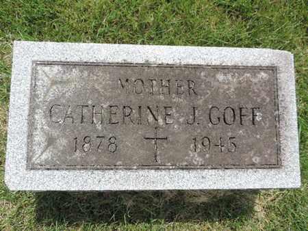 GOFF, CATHERINE J. - Franklin County, Ohio   CATHERINE J. GOFF - Ohio Gravestone Photos
