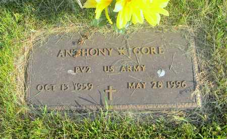 GORE, ANTHONY K. - Franklin County, Ohio | ANTHONY K. GORE - Ohio Gravestone Photos