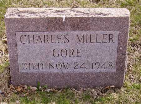GORE, CHARLES MILLER - Franklin County, Ohio   CHARLES MILLER GORE - Ohio Gravestone Photos