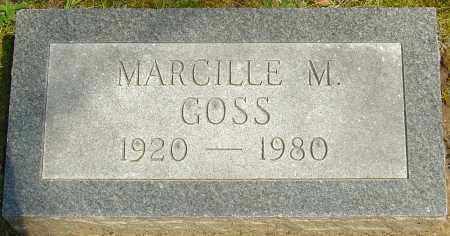 GOSS, MARCILLE M - Franklin County, Ohio   MARCILLE M GOSS - Ohio Gravestone Photos