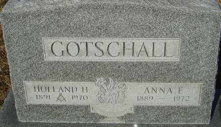 GOTSCHALL, ANNA E - Franklin County, Ohio | ANNA E GOTSCHALL - Ohio Gravestone Photos