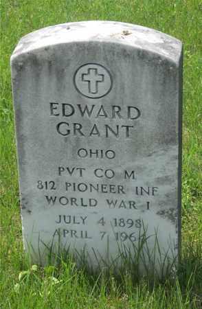 GRANT, EDWARD - Franklin County, Ohio   EDWARD GRANT - Ohio Gravestone Photos