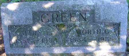 GREEN, WORTH G - Franklin County, Ohio | WORTH G GREEN - Ohio Gravestone Photos