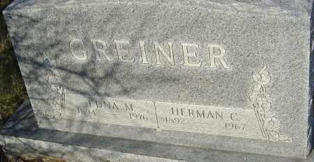 GREINER, HERMAN - Franklin County, Ohio | HERMAN GREINER - Ohio Gravestone Photos
