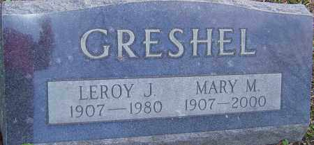 GRESHEL, LEROY - Franklin County, Ohio | LEROY GRESHEL - Ohio Gravestone Photos