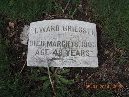 GRIESSER, EDWARD - Franklin County, Ohio | EDWARD GRIESSER - Ohio Gravestone Photos