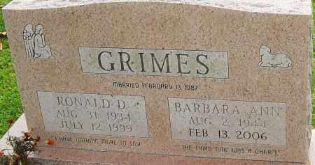 GRIMES, RONALD - Franklin County, Ohio | RONALD GRIMES - Ohio Gravestone Photos