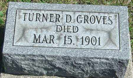 GROVES, TURNER D - Franklin County, Ohio   TURNER D GROVES - Ohio Gravestone Photos