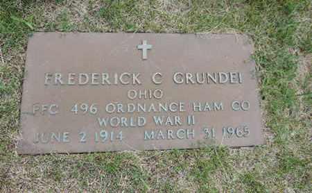 GRUNDEI, FREDERICK C. - Franklin County, Ohio | FREDERICK C. GRUNDEI - Ohio Gravestone Photos