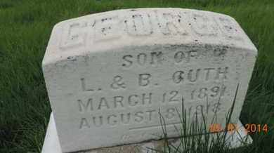 GUTH, GEORGE - Franklin County, Ohio   GEORGE GUTH - Ohio Gravestone Photos