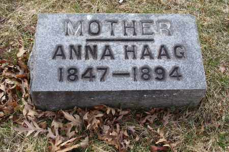 BROWN HAAG, ANNA - Franklin County, Ohio | ANNA BROWN HAAG - Ohio Gravestone Photos