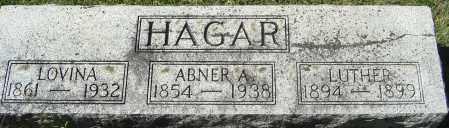 HAGAR, ABNER A - Franklin County, Ohio | ABNER A HAGAR - Ohio Gravestone Photos